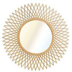 Vente-unique.pl Lustro okrągłe w kształcie słońca calamus z rattanu – śr. 90 cm