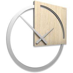 Zegar ścienny karl  jasny dąb marki Calleadesign