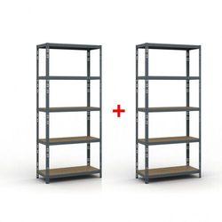 B2b partner Regał półkowy 2000 x 900 x 400 mm, nośność 175 kg 1+1 gratis