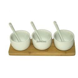 Delta import Pojemniki ceramiczne na przyprawy sosy z podstawką