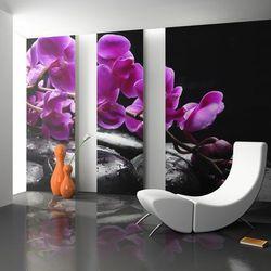 Fototapeta - chwila relaksu: orchidea i kamienie zen marki Artgeist