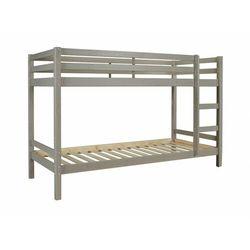 Łóżko piętrowe ANICET - 2x90x200cm -Lita sosna - Kolor szary
