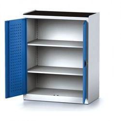 Szafa warsztatowa mechanic, 1170 x 920 x 500 mm, 2 półki, niebieskie drzwi marki B2b partner