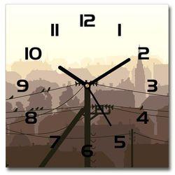 Zegar szklany Miasto linia napięcia 30x30 Miasto linia napięcia