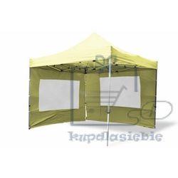 Garthen Pawilon ogrodowy profi rozkładany 3 x 3 m - champagne, 4 ściany (4025379982838)