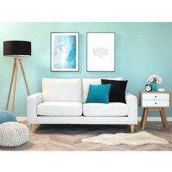 Sofa dwuosobowa tapicerowana biała RINDAL