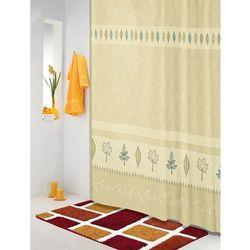 zasłona prysznicowa listki beżowo-turkusowy, 180 x 200 cm marki Bellatex