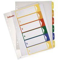 Przekładki numeryczne Esselte Maxi A4+/1-6, do nadruku 100212 z kategorii Segregatory i akcesoria