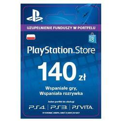 Sony PlayStation Network 140 zł [kod aktywacyjny], kup u jednego z partnerów