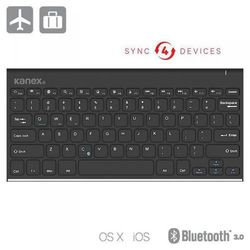 KANEX Easysync iPad Keyboard - Klawiatura Bluetooth z podstawką (iOS / Android / Windows) (0814556019955)