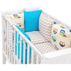 8-el pościel do łóżeczka z ochraniaczem modułowym - zestaw 33 marki Mamo-tato