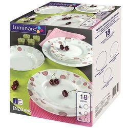 Komplet obiadowy Enzo Pink 18-elementowy LUMINARC