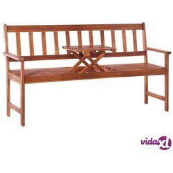 ławka ogrodowa ze stolikiem, 158 cm, drewno akacjowe, brązowa marki Vidaxl