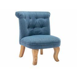 Niski fotel dla dzieci z tkaniny arold - kolor jasnoniebieski marki Vente-unique