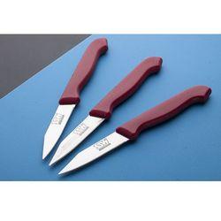 Ssw noże kuchenne do warzyw i owoców zestaw 3 sztuk - mix kolorów