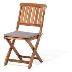 Zestaw do ogrodu 2 krzesła brązowe drewniane CENTO