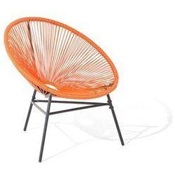 Beliani Krzesło ogrodowe pomarańczowe acapulco