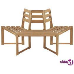 Vidaxl ławka pod pień drzewa, 160 cm, lite drewno akacjowe