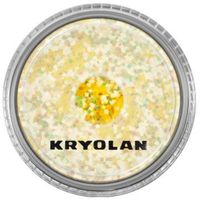 Kryolan POLYESTER GLIMMER COARSE (PASTEL YELLOW) Gruby sypki brokat - PASTEL YELLOW (2901)
