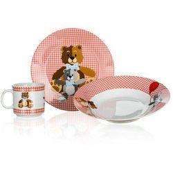 3-częściowy zestaw dziecięcy niedźwiadki, czerwony marki Banquet