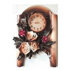 Art deco Zegar scienny z różami - z1-7