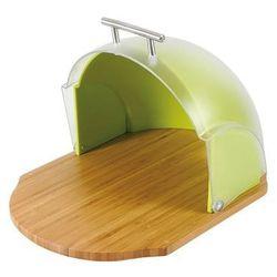 Chlebak drewniany z pokrywą plastikową Vader Green, 68922