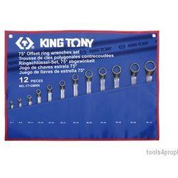 ZESTAW KLUCZY OCZKOWYCH ODGIĘTYCH 75° 12cz. 6 - 32mm King Tony 1712MRN (4712755658509)