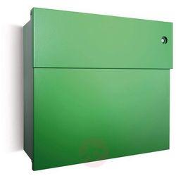 Skrzynka na listy Letterman IV z dzwonkiem zielona