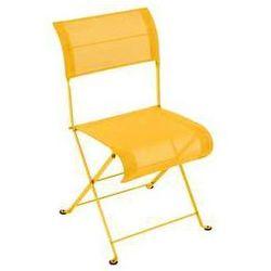 Składane krzesło ogrodowe z siateczką Fermob Dune żółte z kategorii krzesła ogrodowe