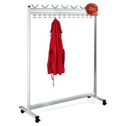 Szeregowy stojak na garderobę, wys. x gł. 1700x400 mm, bez stojaka na parasole, marki Unbekannt
