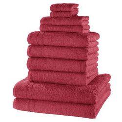 """Bonprix Komplet ręczników """"new uni deluxe"""" (10 części) jeżynowy"""