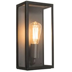 Zewnętrzna lampa ścienna Rotterdam 1 czarna, kup u jednego z partnerów