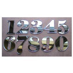 Numer, Numery na Drzwi z pleksi lustro wys 5,5 cm, towar z kategorii: Akcesoria do drzwi