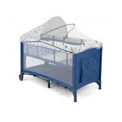 Milly-mally Kojec łóżeczko mirage deluxe 2016 biało-niebieski #b1