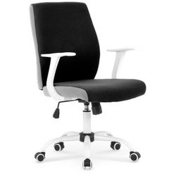 Młodzieżowy fotel combo - czarno-biały marki Halmar