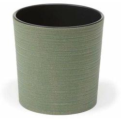 Doniczka plastikowa 19 cm zielona MALWA, Lamela_6462311