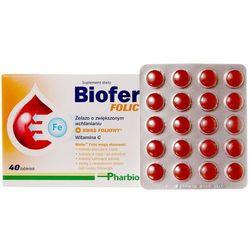 Biofer folic x 40 tabl - tabletki suplementy ciążowe