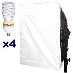 z softboxem 4-świetlówkowym Powerlux RC-574 50x70 cm + 4x świetlówka 85W 5400K, Funsports z Cyfrowe.pl