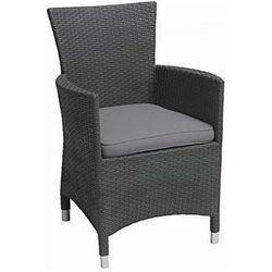 Krzesło polirattanowe MONTANA grafit