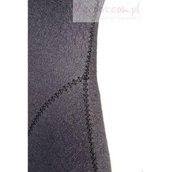 Fotel Jajo szeroki tkanina szara 2702 z przeszyciem - produkt z kategorii- Krzesła i stoliki