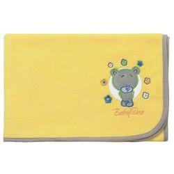 Super miękki kocyk polarowy, , żółty - żółty marki Babyono