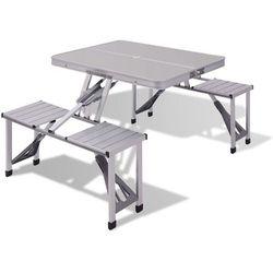 Vidaxl aluminiowy stół piknikowy (8718475970460)