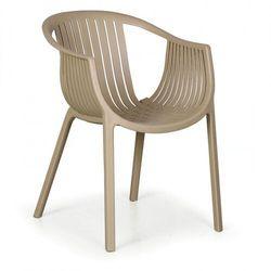 B2b partner Fotel ogrodowy lounge, beżowy, 3+1 gratis