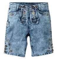 Bonprix Bermudy dżinsowe w ludowym stylu regular fit  niebieski