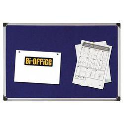 Bi-office Tablica filcowa 90x120cm niebieska