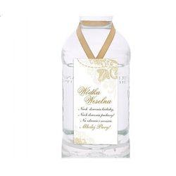 Zawieszki na wódkę, biały i złoty, 1op.