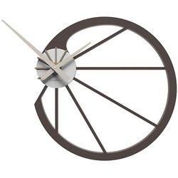 Zegar ścienny Snail CalleaDesign czekoladowy, kolor brązowy