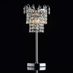 Chromowana lampka na stolik nocny, kryształki adelard crystal (642033201) marki Mw-light
