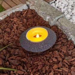 Lampenwelt.com Migocąca świeczka led shivani w kolorze szarym