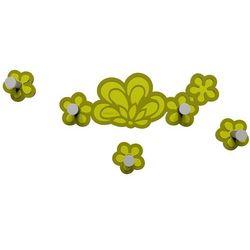 Wieszak ścienny merletto  oliwkowo-zielony marki Calleadesign